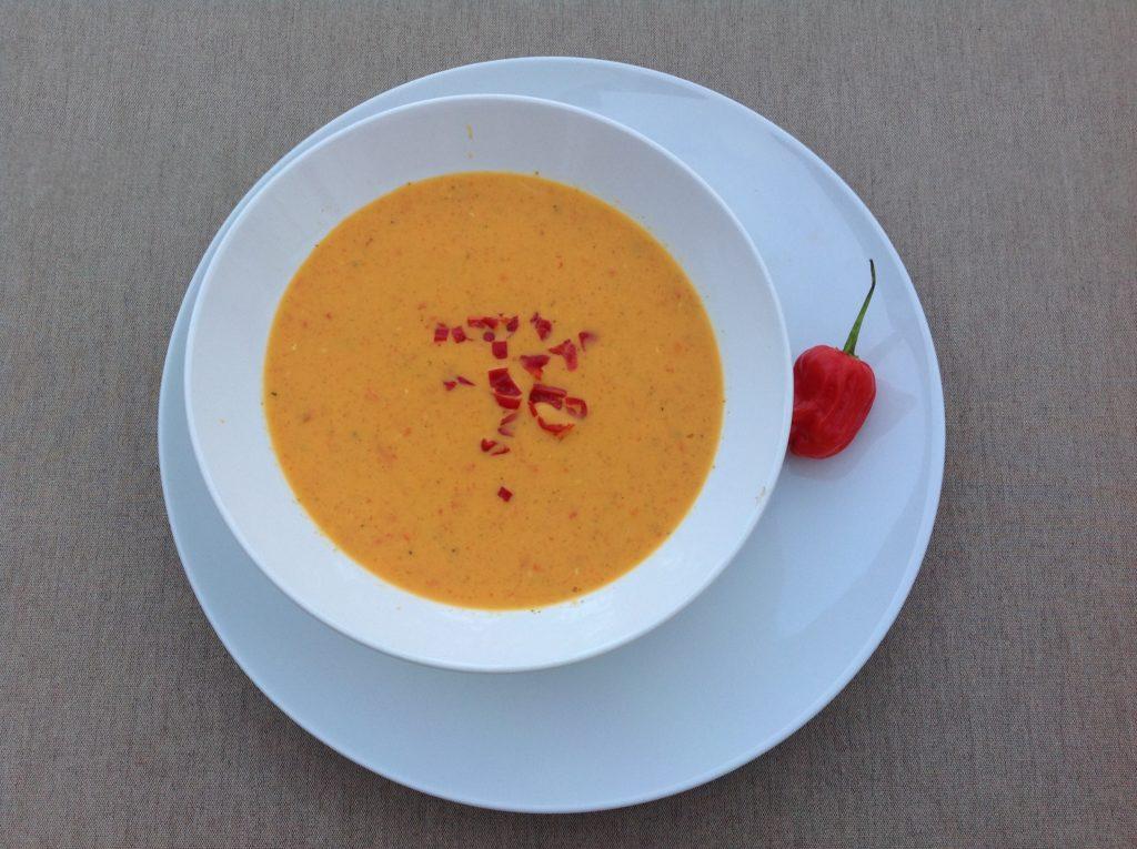 Kaltes Paprika - Kokos - Süppchen